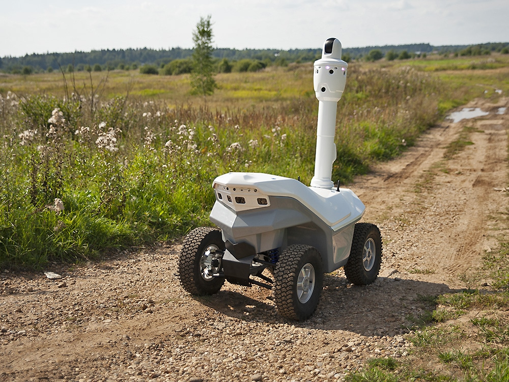 Robot with high-precision positioning technology
