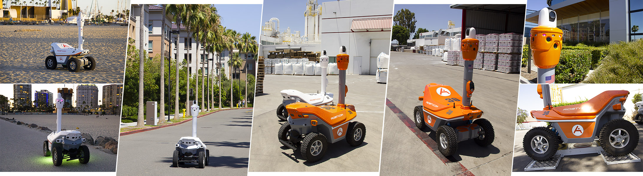 Security robots distribution
