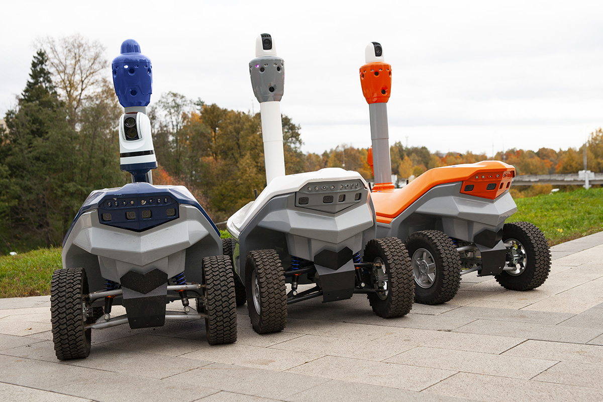 Leasing security robots USA