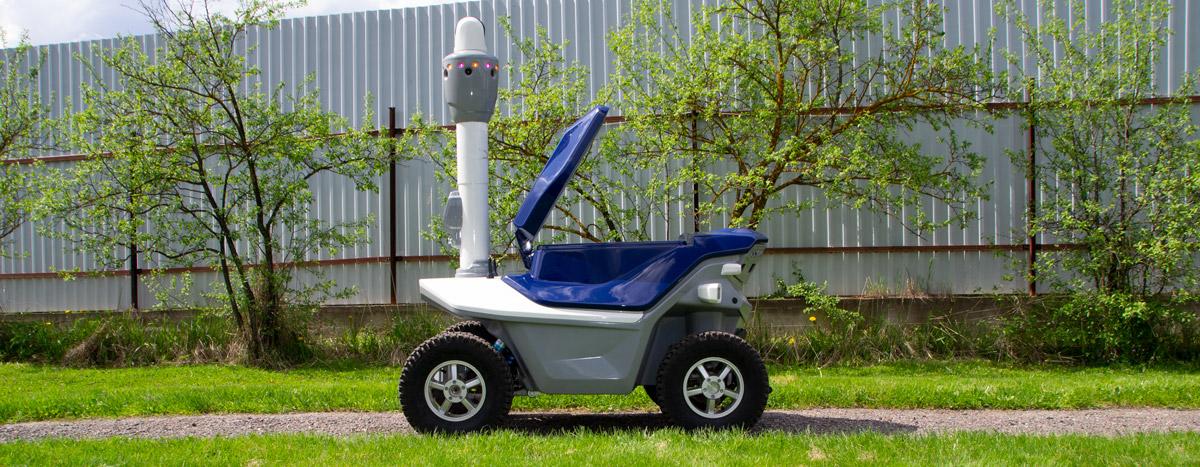 Autonomous delivery robot with surveillance systems