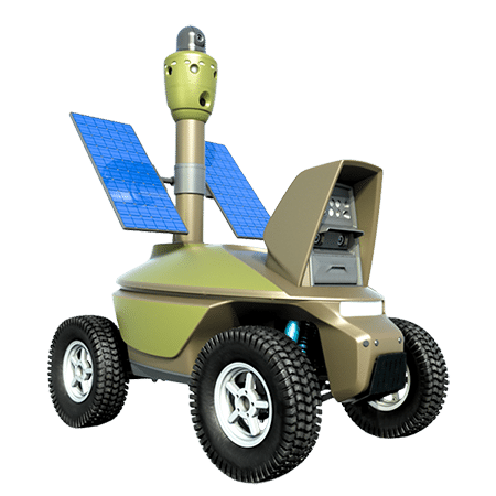Solar-powered security robot