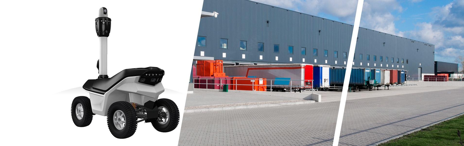 Warehouses mobile security surveillance robot