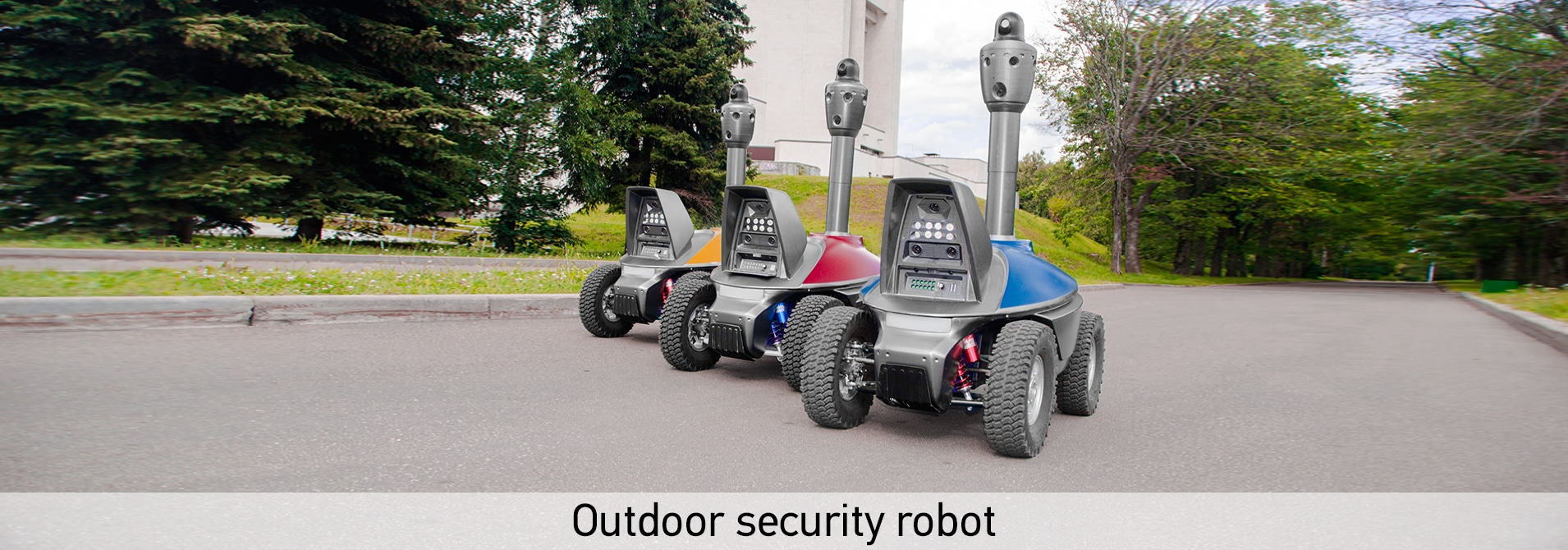 Outdoor security robot