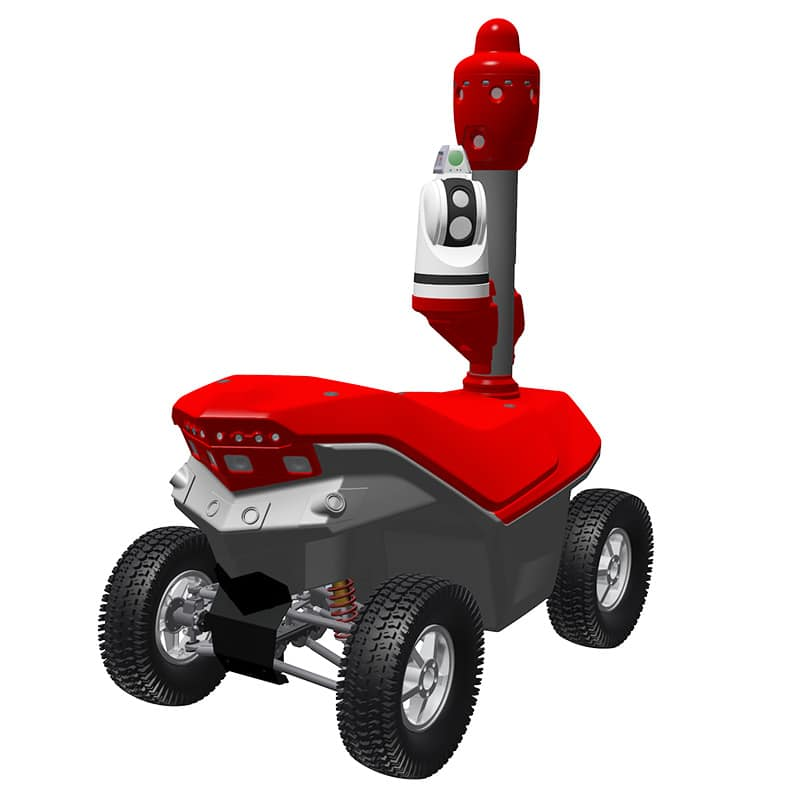 Remote methane leak detection robot