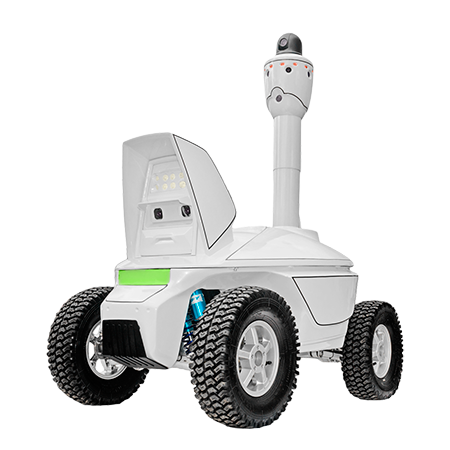 Outdoor panoramic surveillance robot