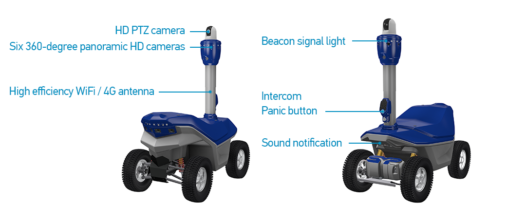 Outdoor security robot S5.2 PTZ