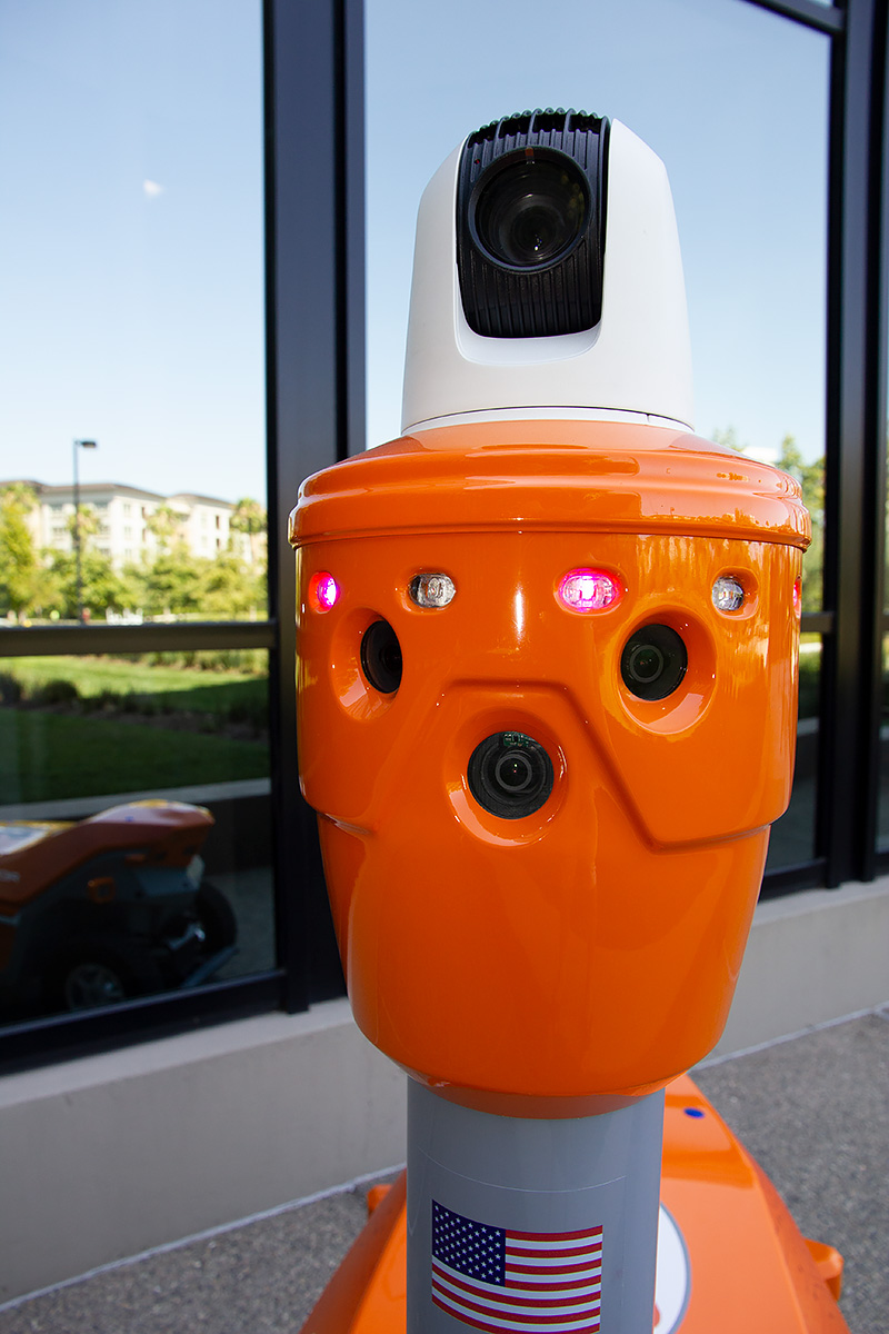 PTZ camera-equipped robot