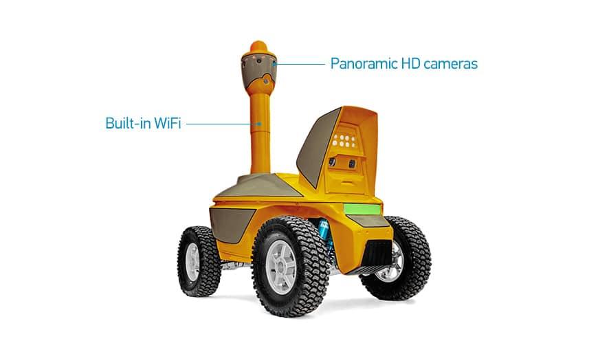 S5 HD security patrol robot is a mobile video surveillance