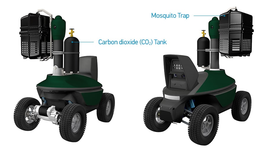 Carbon dioxide CO2 mosquito trap robot
