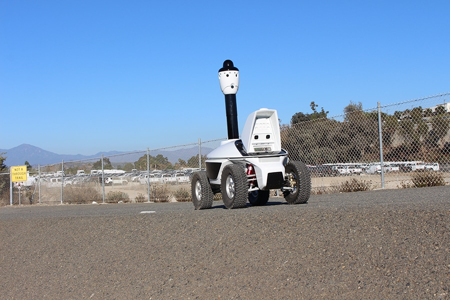 Mobile Surveillance Vehicle for Patrolling Restricted Areas