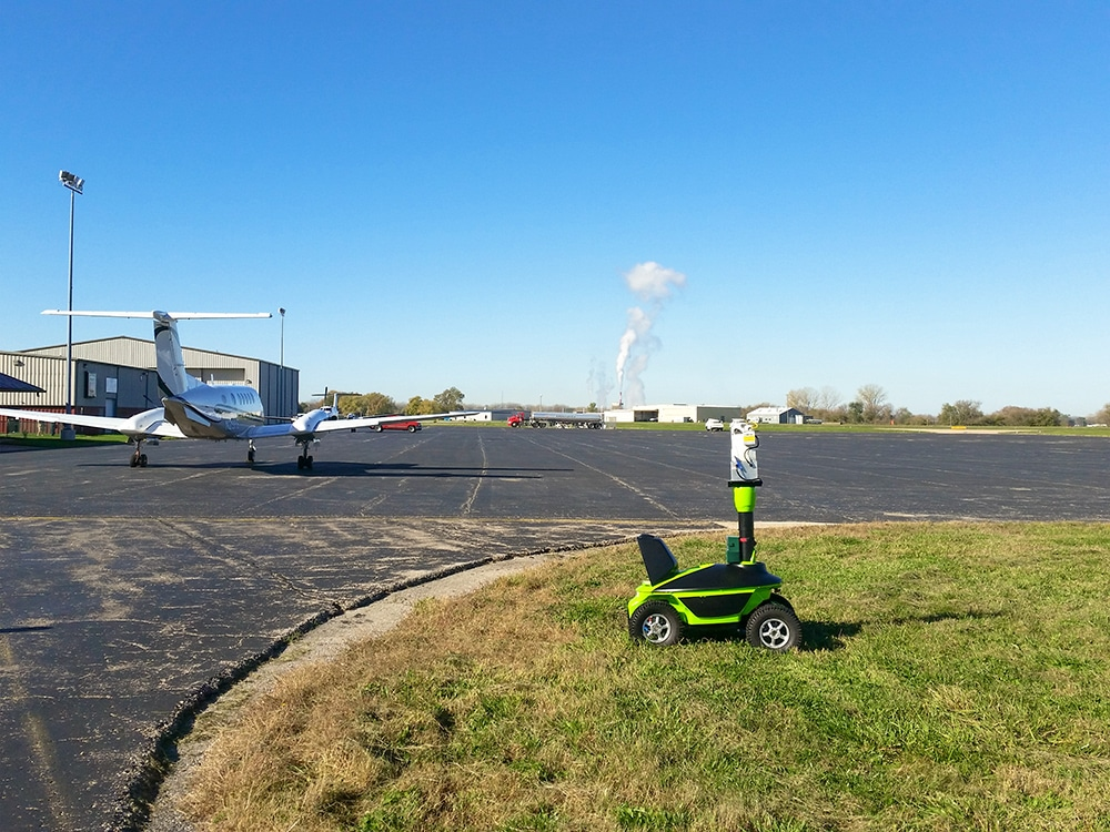 Airport Laser Bird Control with Mobile vehicle