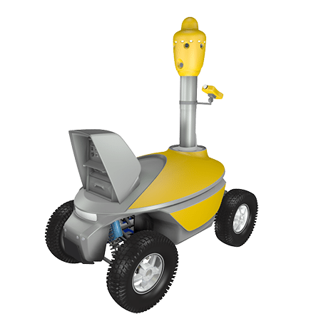 Area gas monitoring robot