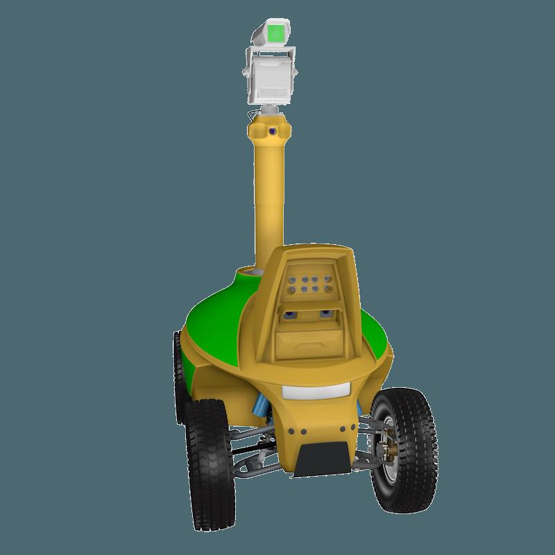 Laser bird control robot