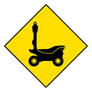 security robots sign