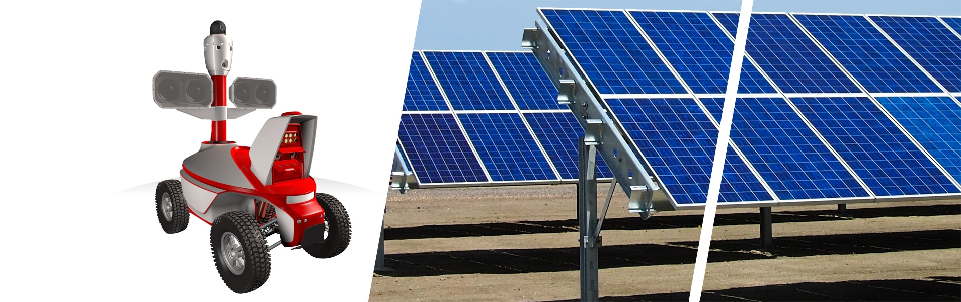 solar power plant security guard robot