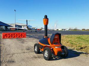 Security robot at airport