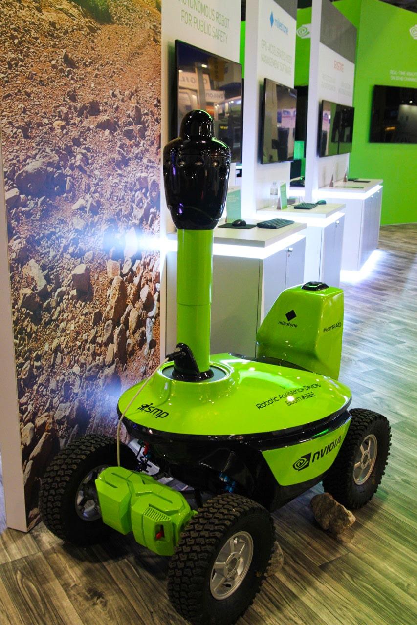 Nvidia Jetson TX2 AI security robot