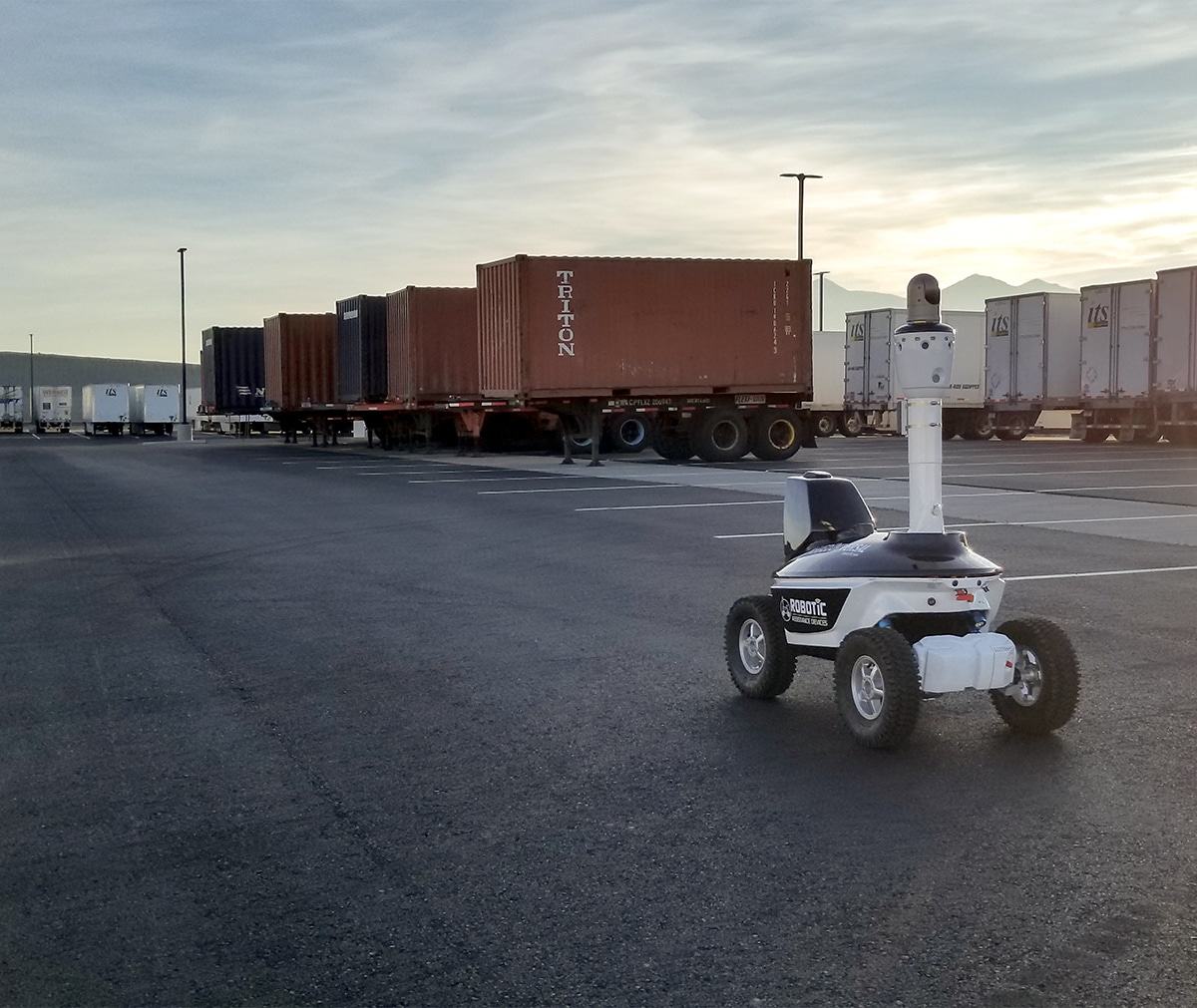 Autonomous security robot in Nevada