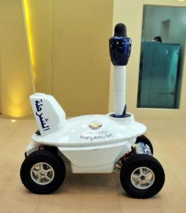 Security robot in Qatar