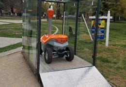 New model of robots began group patrols in Chile
