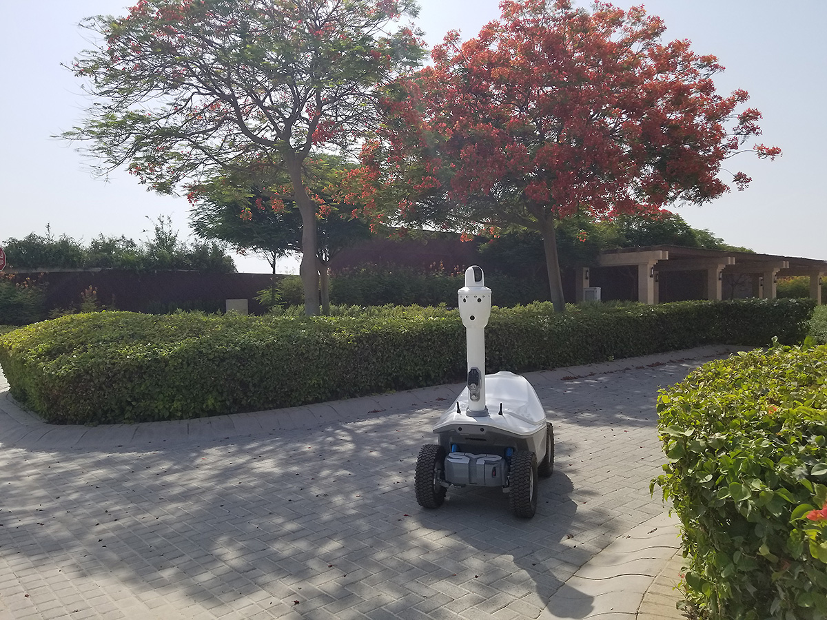 Most advanced security robot in UAE