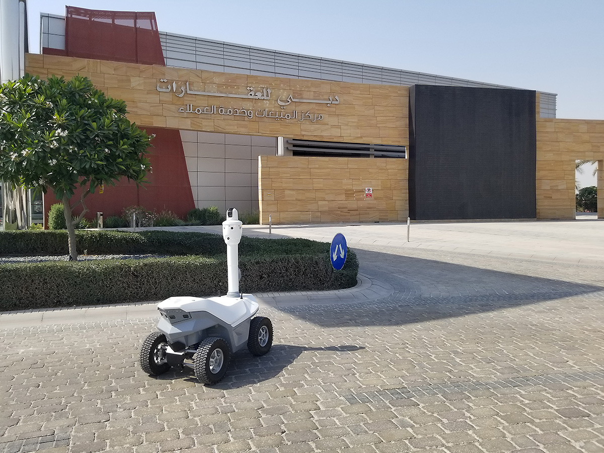 Security robot protect commercial real estate