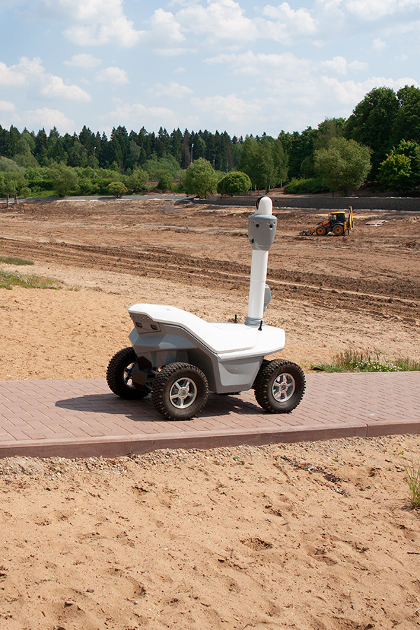 Artificial intelligence security robot