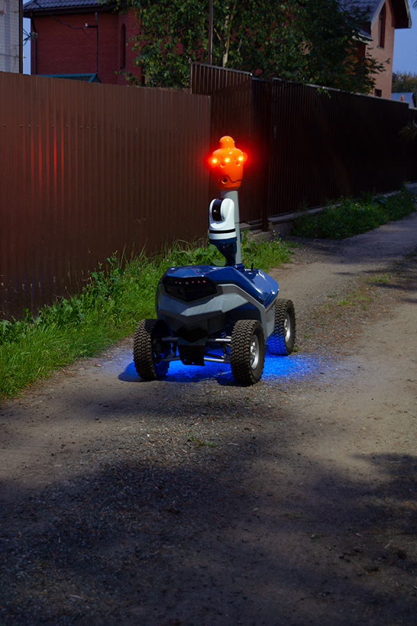 Thermal imaging area security robot