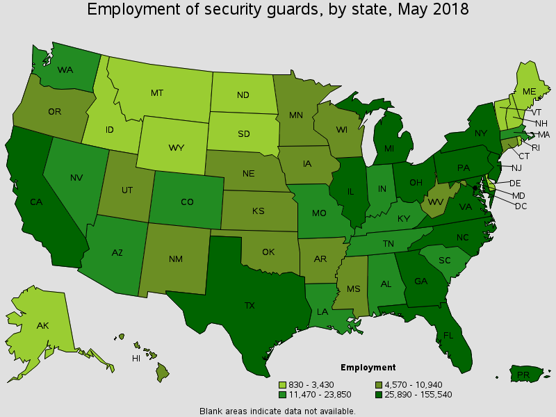 Employment of security guards