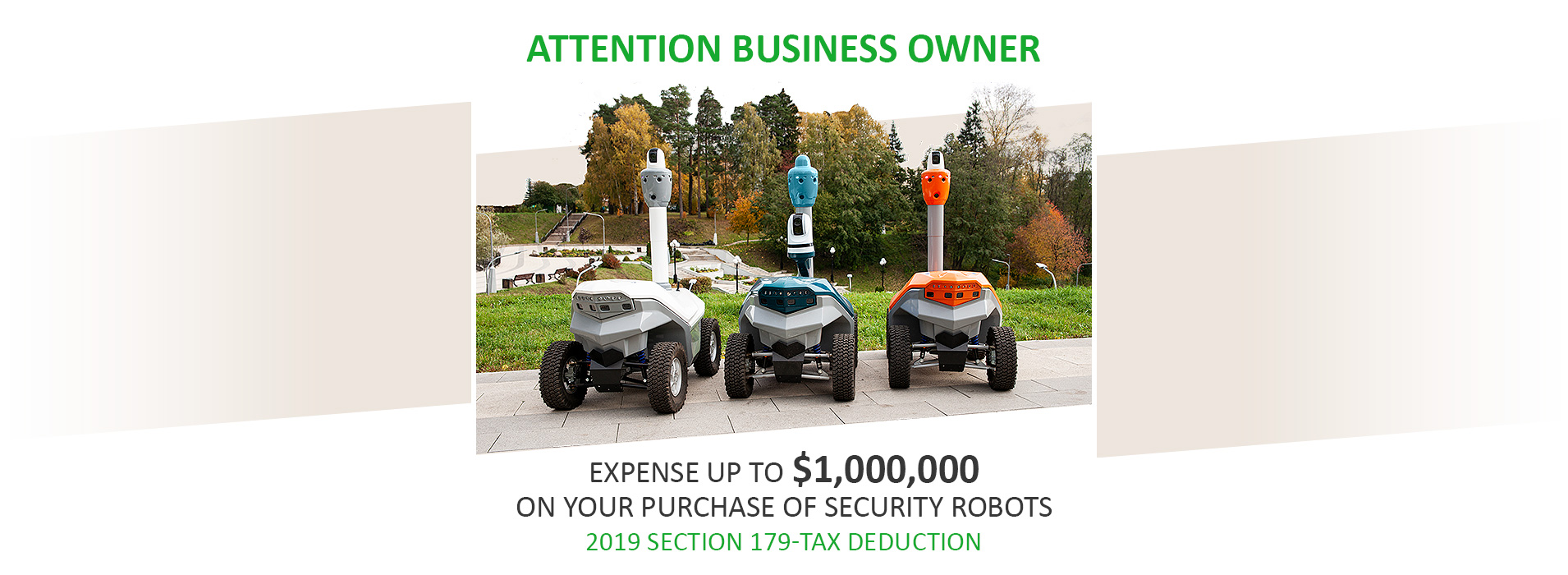 Security robots tax deduction