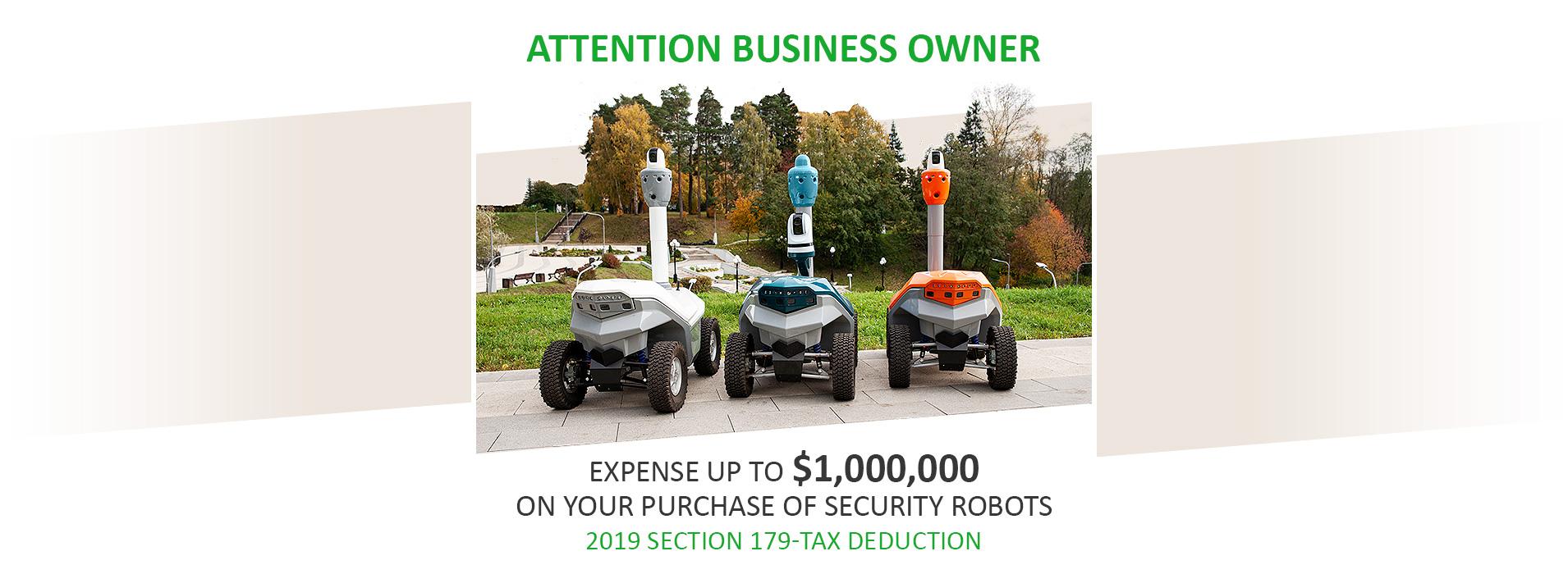 Security robots tax deduction