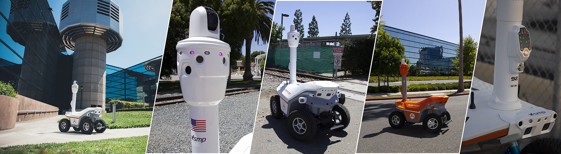 Security robot for industrial commercial facilities