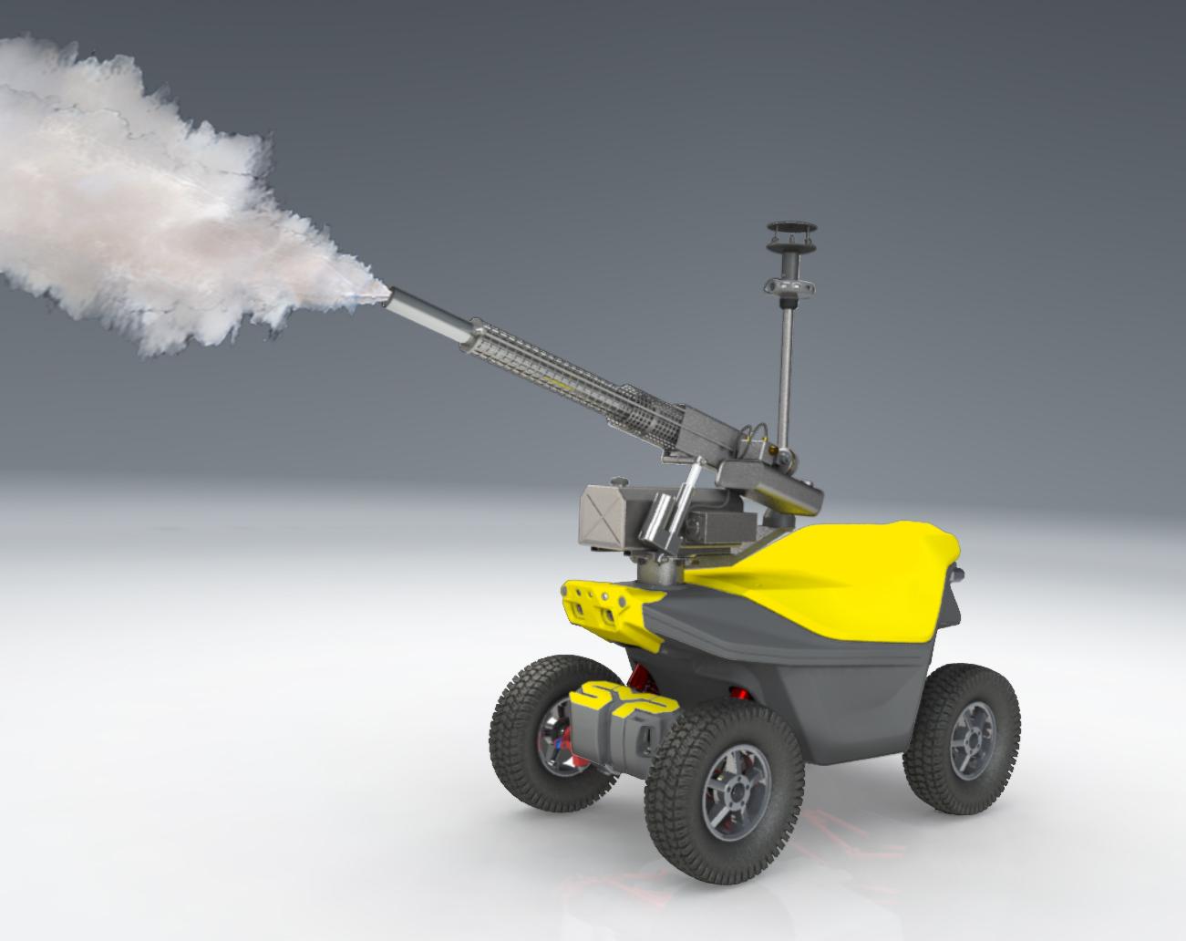 Disinfection fogging robots