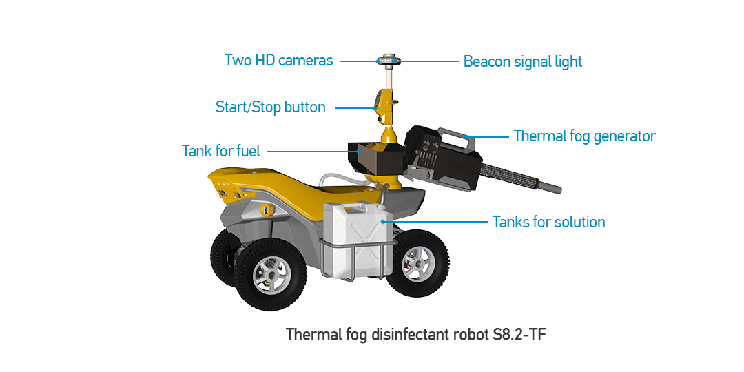 Thermal fog disinfectant robot S8.2-TF