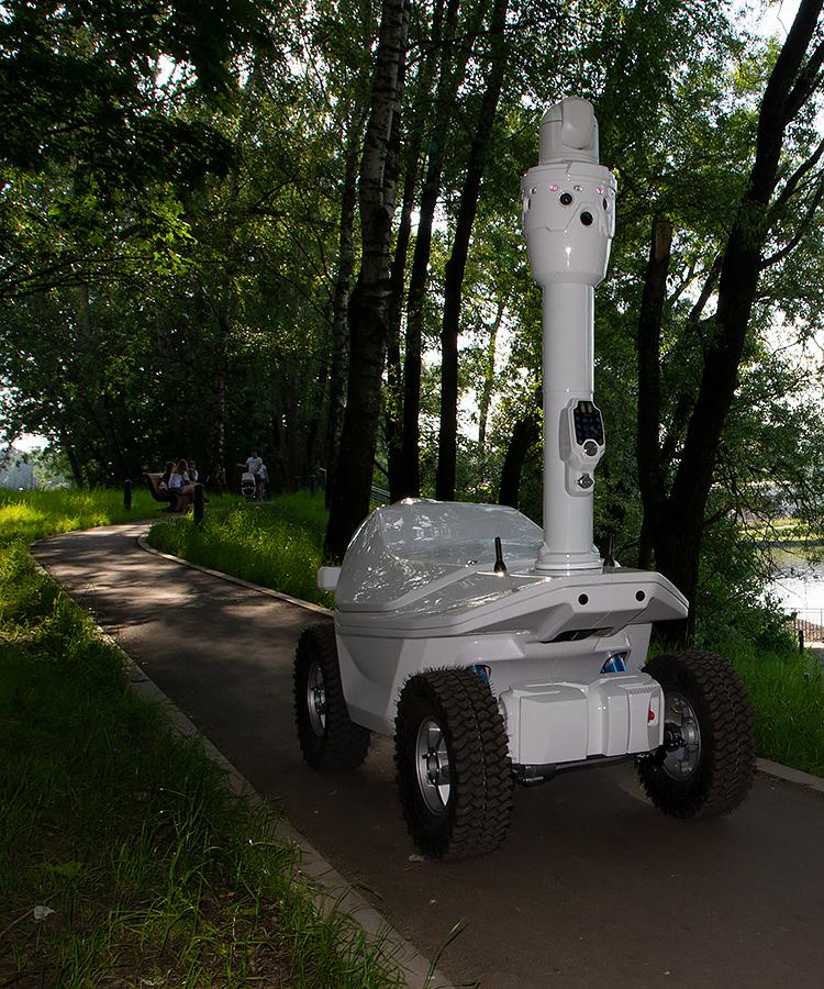 360-degree thermal video surveillance robot