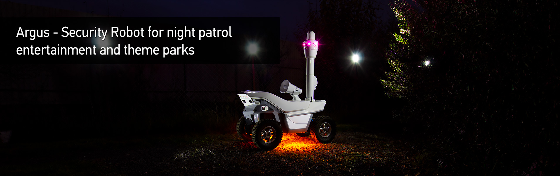 Argus - Security Robot for night patrol entertainment and theme parks