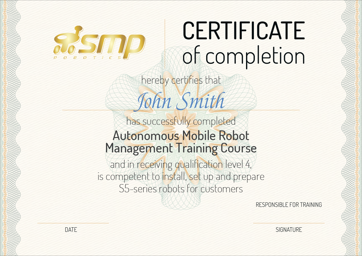 SMP certificate AMR